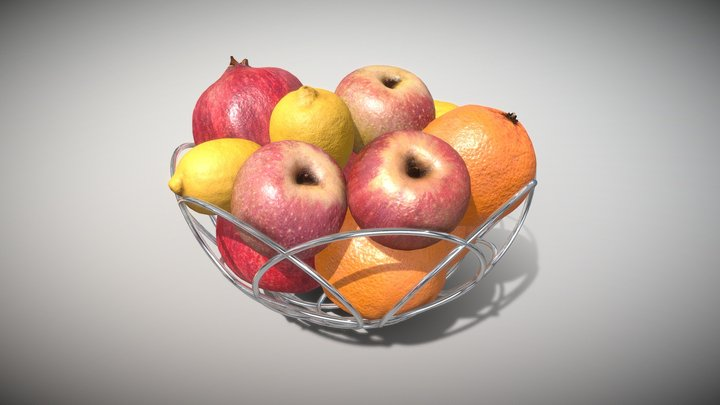 Basket Fruits Collection - Photoscanned PBR 3D Model