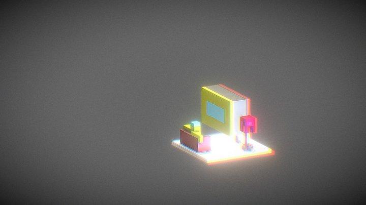 Large TV 3D Model