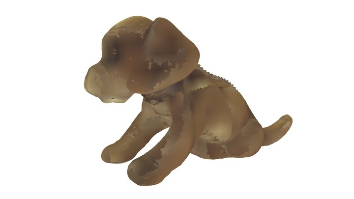 Plastic toy dog 3D Model