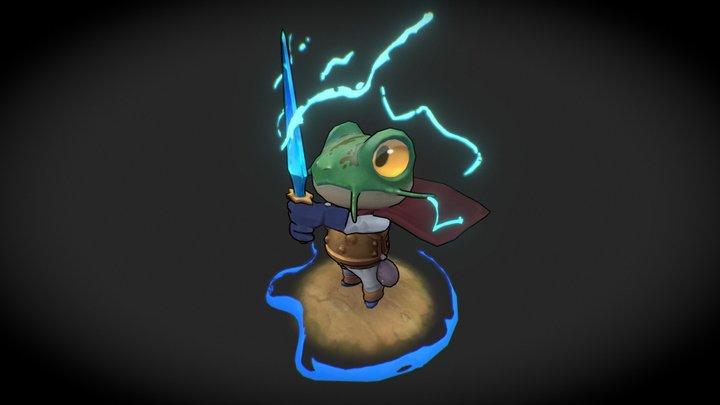 Chrono Trigger FanArt - Gleen/Frog 3D Model