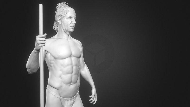 Male anatomy study - Zbrush 3D Model