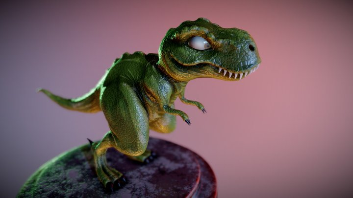 T-REX stylized 3D Model