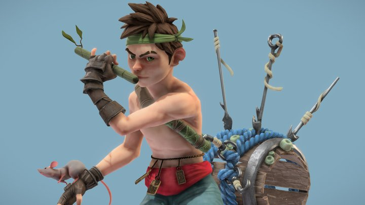 Pirate Boy 3D Model