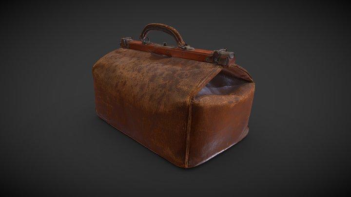 Vintage Leather Suitcase 3D scan 3D Model
