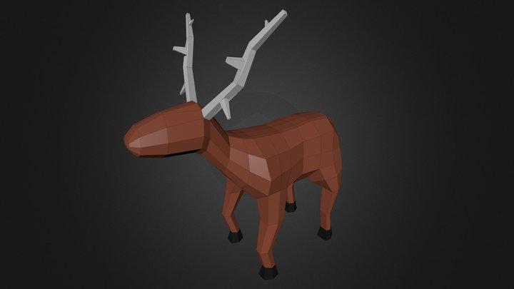 Deer [Low-Poly] 3D Model