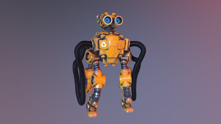 Recycle Bot - Yellow Sector 3D Model
