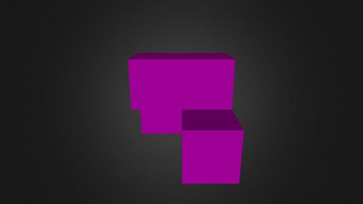 Purple Puzzle Part 3D Model