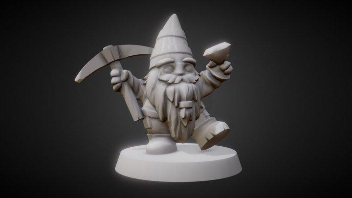 Dwarf meeple 3D Model