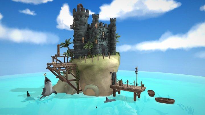 Navy Prison Island 3D Model