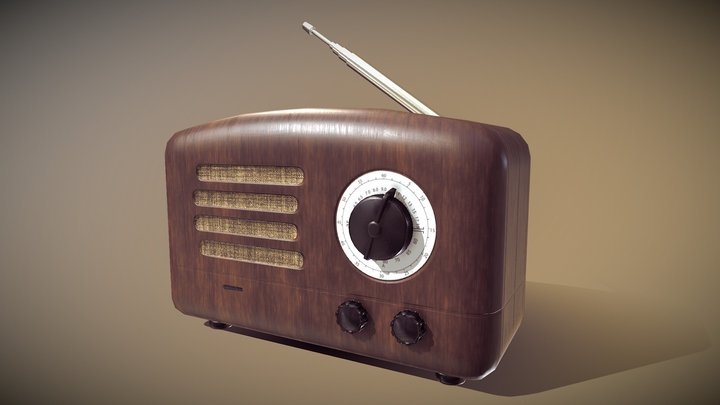 Radio Old 3D Model