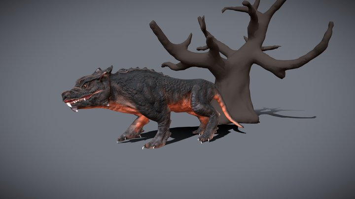 Modified big cat - animated 3D Model