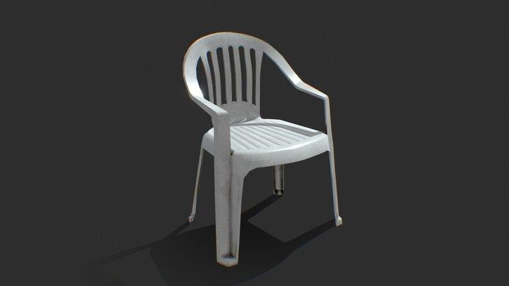 Garden Plastic Chair 3D Model