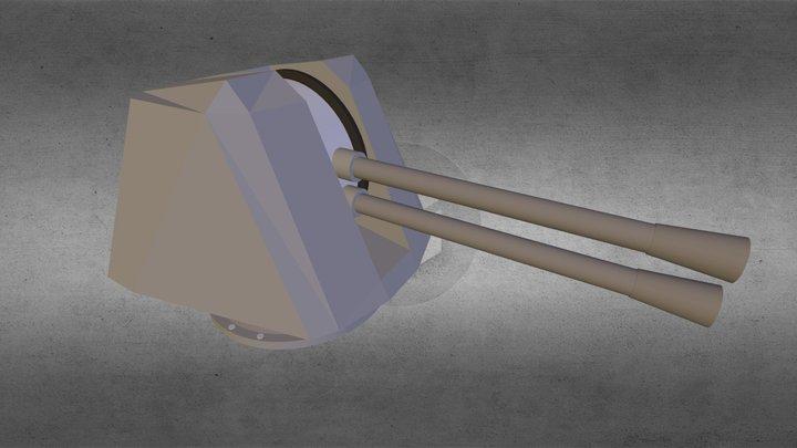Naval Gun 3D Model