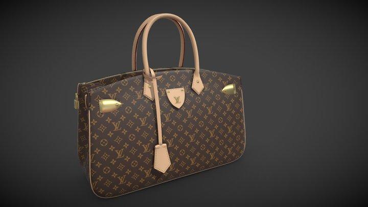 Louis Vuitton bag ALL SET Monogram Leather 3D Model