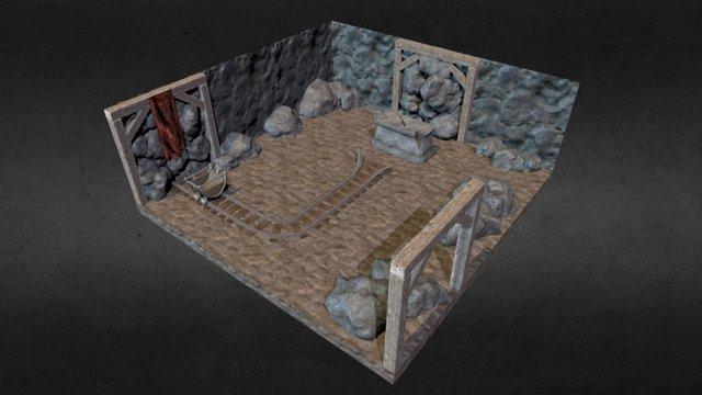 Dwarven Cavern Diorama Mesh 3D Model