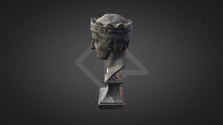 Federico Secondo testa in gesso 3D Model