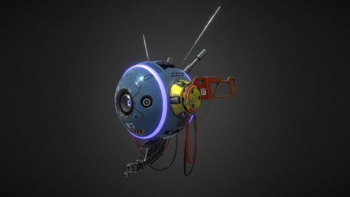 Sci Fi 3D Drone 3D Model