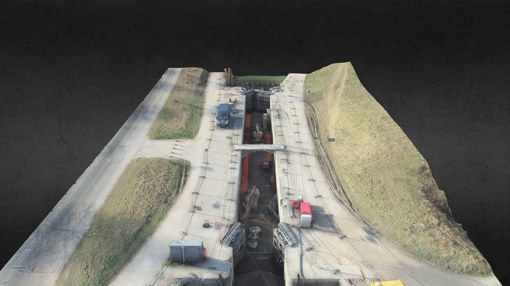 Wattrelos - écluse du Sartel 2021/03 3D Model