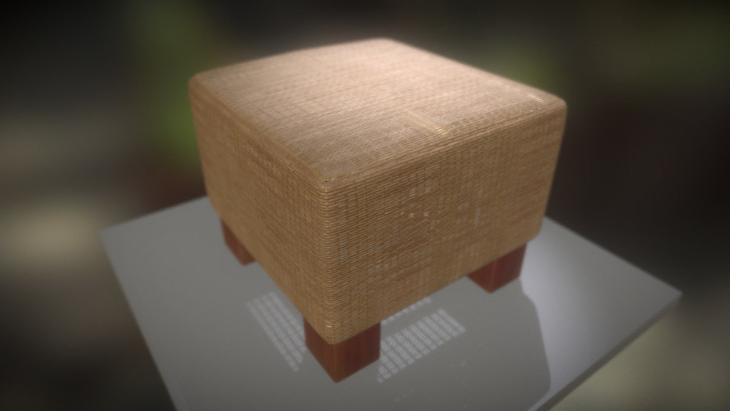 Basket Stool Low-Poly