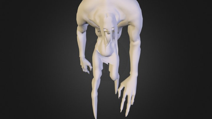 Creature_Low_Pose02 3D Model