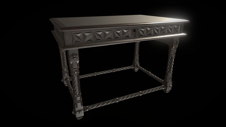 Small neogothic table 3D Model