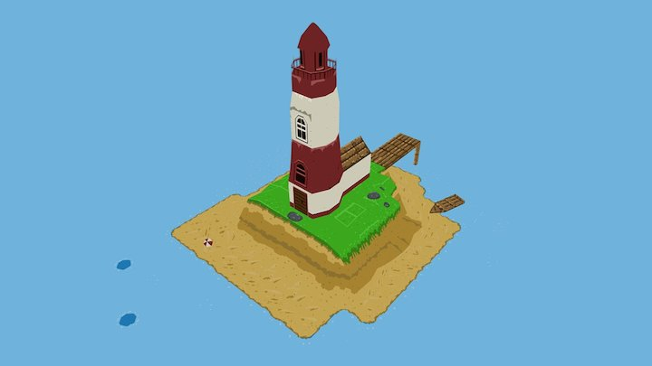Low-poly Lighthouse 3D Model