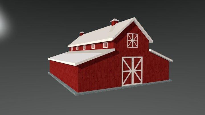 40x50 Horse Barn OS 3D Model