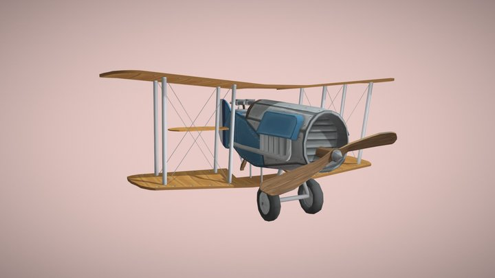 Stylized WWI Plane - Bristol F2B 3D Model