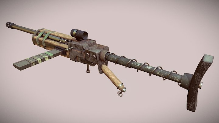Pipe rifle Fallout 4 3D Model