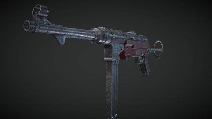 MP40 - German Gun 3D Model