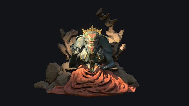 Elephant deity statue - wip 3D Model