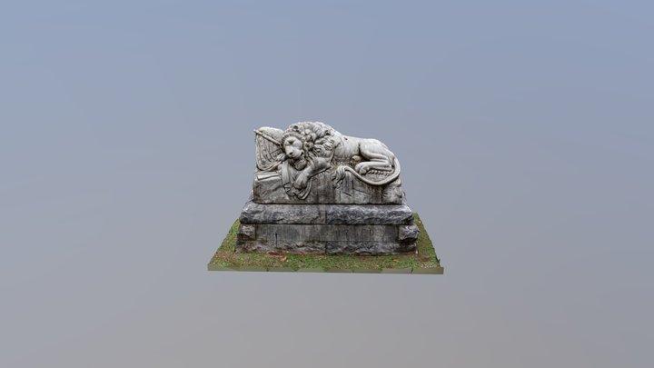 Oakland Cemetery - Lion of Atlanta 3D Model