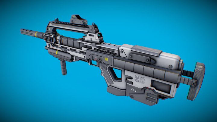 MA37k - Halo Reach Carabine Concept 3D Model