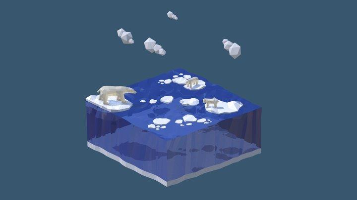Isometric Landscape Polar 3D Model