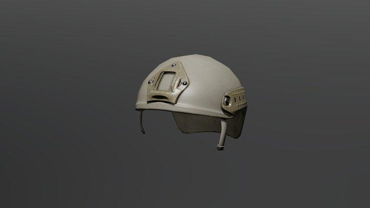 High Cut Helmet LowPoly 3D Model