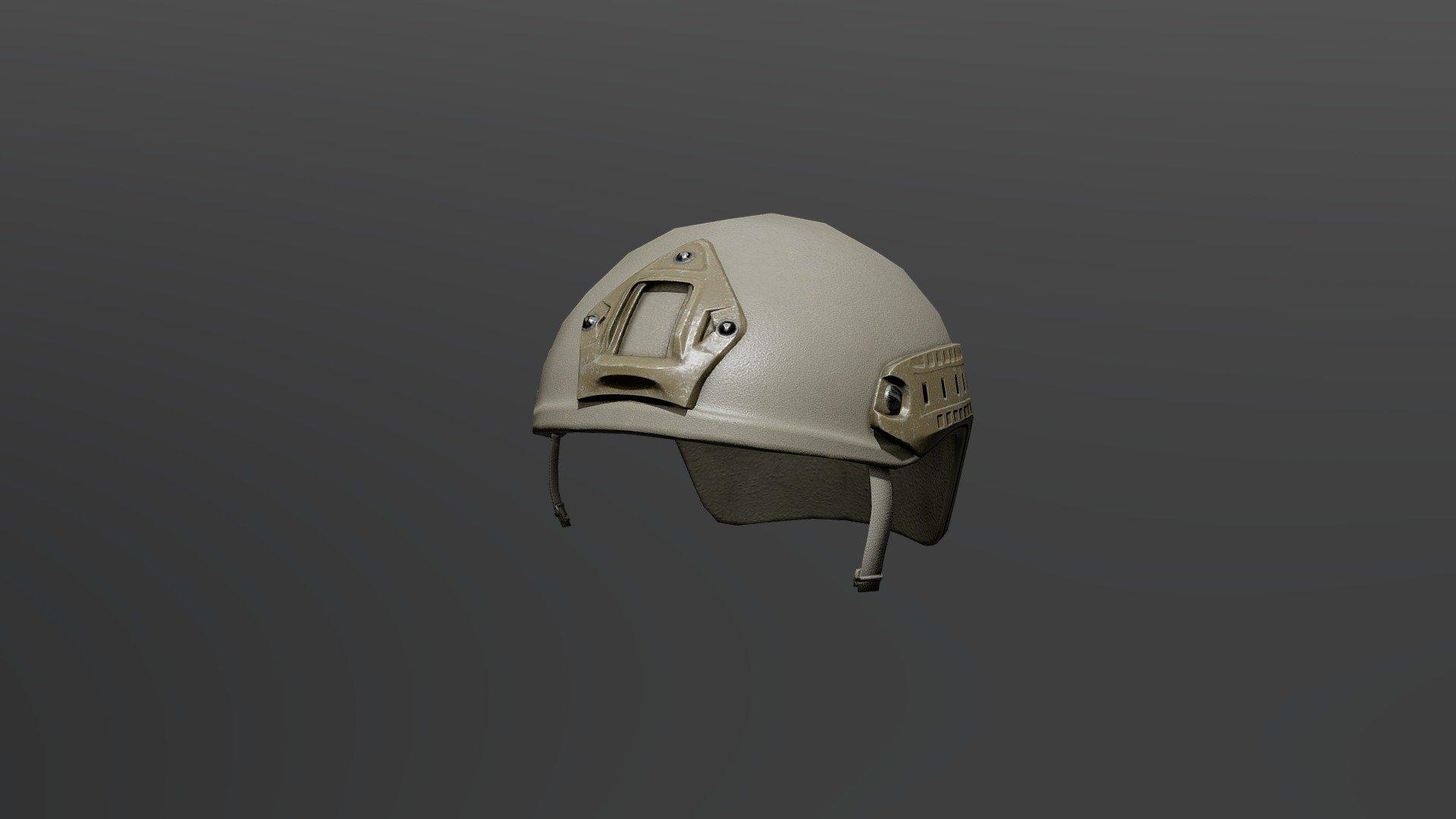High Cut Helmet LowPoly