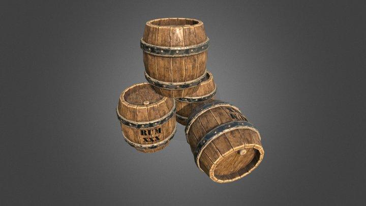 Kegs of Rum 3D Model