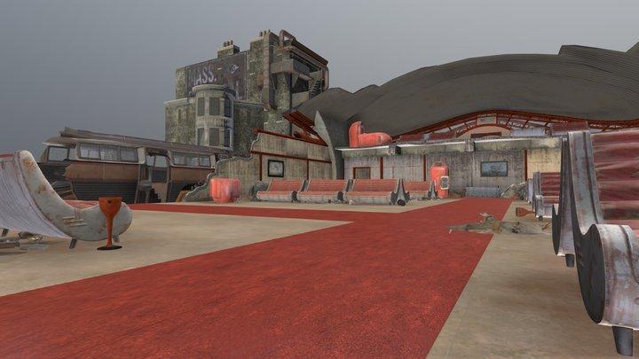 Boston Airport Scene 3D Model
