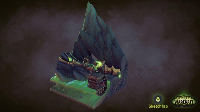 Broken Shore dungeon lobby 3D Model