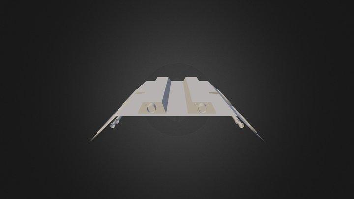 Space Corridor Ceiling 3D Model