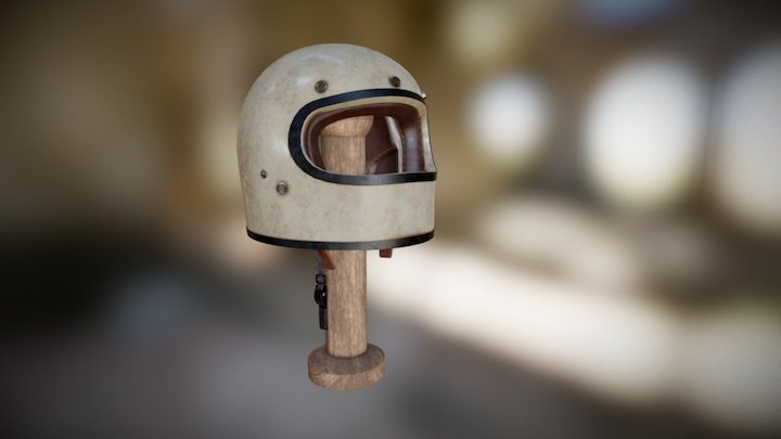 Vintage helmet design 3D Model
