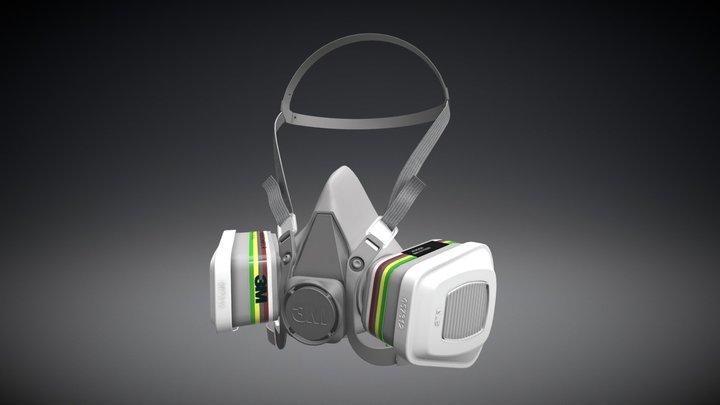 Protective half mask. 3D Model