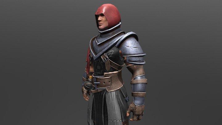 Human Battle Mage 3D Model