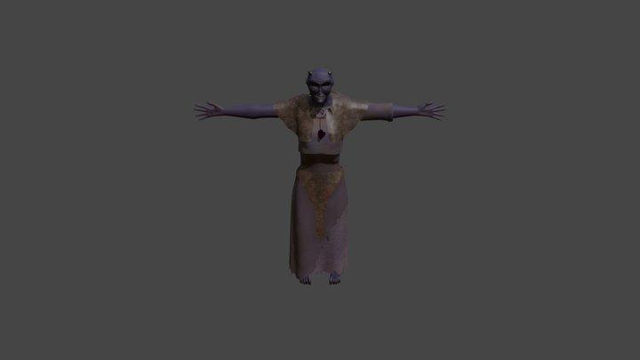 Oma Der Nacht 3D Model