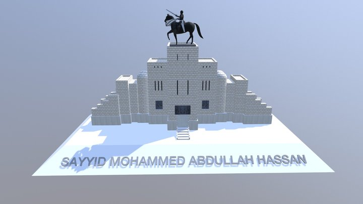 Statue Sayyid Mohammed Abdullah Hassan 3D Model