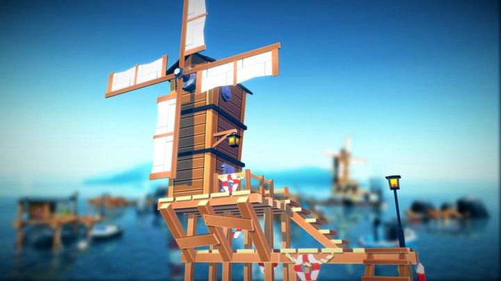 Fantasy Windmill 3D Model