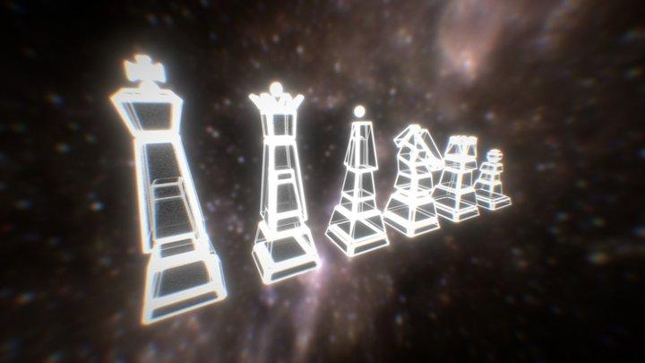 Quantum Chess - Retro Chess Set - 3D Update 3D Model