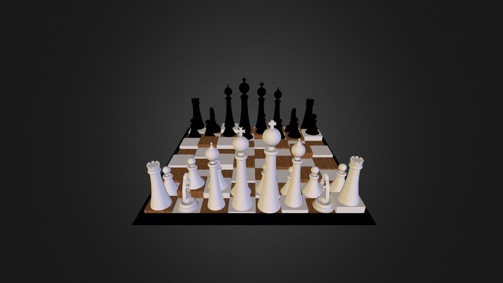Tabuleiro de Xadrez 3D Model