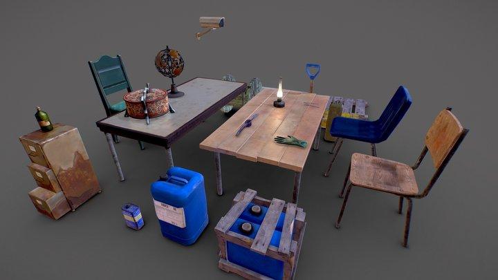 28 Free objects 3D Model