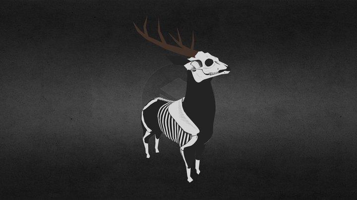 Deer Skeleton 3D Model